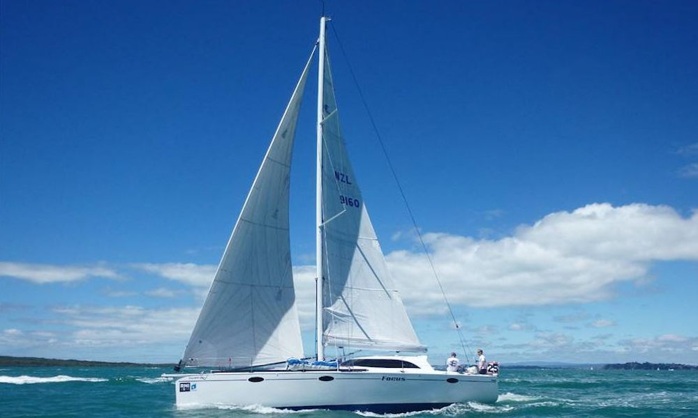 SV Focus, 1350 Tourer, under sail