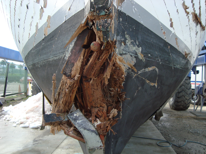 Damaged to a fishing vessel repaired by Hutcheson Boats